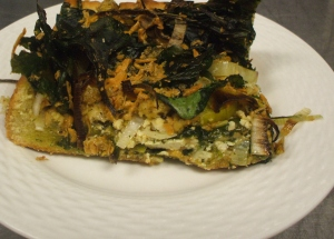 gluten-free, vegan spinach pie
