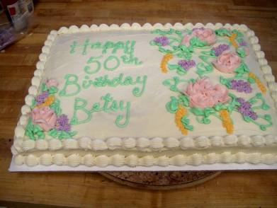 half- sheet cake